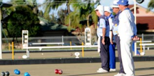 Bowlers on the green