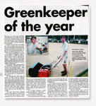 Greenkeeper of the Year Award Cabarita