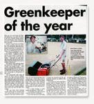 Greenkeeper of the Year Award Cabarita