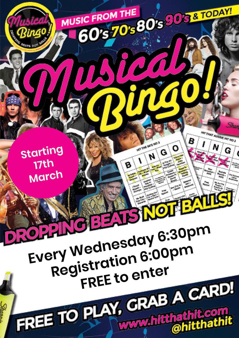 wednesday musical bingo